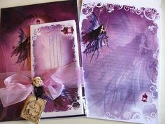 Letter pad, Stationery, Stationary, Fairy Art