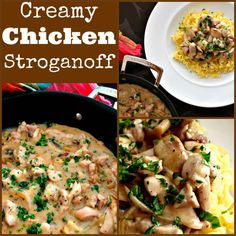Creamy Chicken Stroganoff is a quick and easy dinner, with delicious strips of chicken and sauteed mushrooms in a creamy sauce