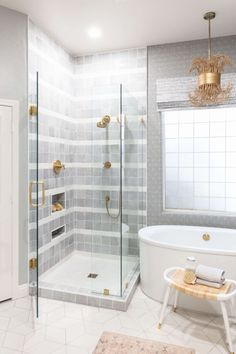 Bathroom of the Week: Airy, Boho Look and a Wood Vanity Large Baths, Wood Vanity, Boho Look, Alcove, Bathtub, Bathroom, Standing Bath, Washroom, Timber Vanity