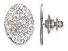 LogoArt Sterling Silver University Of Tennessee Crest Lapel Pin