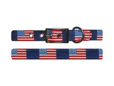 Smathers & Branson American Flag Needlepoint Dog Collar