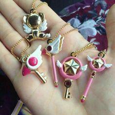 Watches Lower Price with Japan Anime Cardcaptor Sakura Golden Pocket Watch Necklace Star Gemstone Pink Pendant Chain Clock Women Magic Clock Girls Gift Convenient To Cook