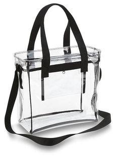 Stadium Clear 12 x 12 Tote Bag with Zipper Closure