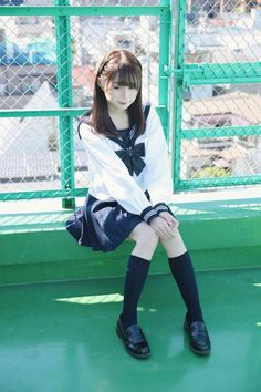 Check out these Japanes theme cosplay characters. School Uniform Fashion, School Girl Outfit, School Uniform Girls, Girls Uniforms, School Uniforms, Cute Asian Girls, Cute Girls, Fashion Poses, Girl Fashion