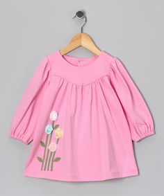 Take a look at this Pink Flower Dress - Infant & Toddler by Les Petits Soleils on #zulily today!
