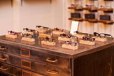 Face Á Face spectacle display - Taylor-West & Sloan Optometrists