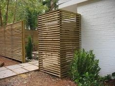 Mid Century Modern fence, perfect for a courtyard or atrium entrance