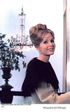 Debbie Reynolds at her Beverly Hills home