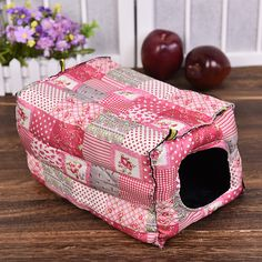 Yunt Hamster Bed Cage Hook Design Cube Cotton House Cage Cozy Warm Hut Hamster Hammock Hanging Bed House Habitats Cage for Hamster Small Animals Red *** You could obtain additional details at the image web link. (This is an affiliate link).