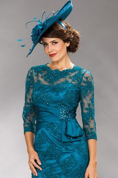 Teal Lace Dress Champagne