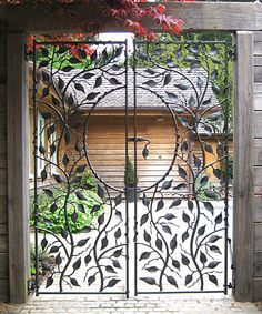 Swimming Pool Gates, design based on bean plants. Private House, New Forest