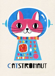 Hui Skipp - Skipp_cat_astronaut Art And Illustration, Graphic Design Illustration, Cat Drawing, Drawing People, Crazy Cat Lady, Crazy Cats, Space Cat, Grafik Design, All About Cats