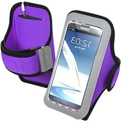 "myLife Fig Purple + Classy Black {Rain Resistant Velcro Secure Running Armband} Dual-Fit Jogging Arm Strap Holder for Samsung Galaxy Note 2 ""All Ports Accessible"" myLife Brand Products http://www.amazon.com/dp/B00TGBXNT4/ref=cm_sw_r_pi_dp_I40avb1PX0WHE"