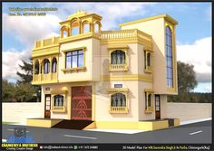 Here is Plan and view of sqft Modern contemporary Residential Project MR. Surendra Singh Ji JI Parlia ,design By Shekhar Kum. Duplex House Design, House Front Design, Home Room Design, Modern House Design, Indian Temple Architecture, House Architecture, Wooden Temple For Home, Modern Architectural Styles, Mansion Designs