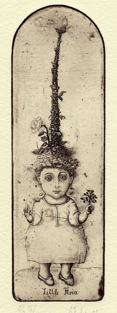 "Alexej Fedorenko book plate illustration....""Little Ana"""
