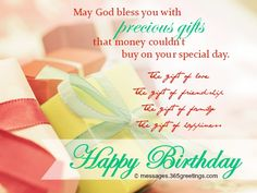 Christian Birthday Wishes Messages, Greetings and Wishes - Messages, Wordings and Gift Ideas