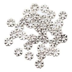 Loose Beads for Jewelry Making High Quality Metal Tibetan Silver Daisy 4mm Flower Spacer Beads 1000pcs/lot
