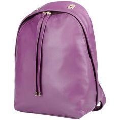 Furla Rucksacks & Bumbags (18.250 RUB) ❤ liked on Polyvore featuring bags, handbags, purple, purple backpack, leather backpack, purple handbags, leather purses and purple purse