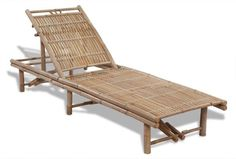vidaXL Sunlounger Bamboo Adjustable Outdoor Garden Seat Lounge Daybed Sun Bed - 8718475909163 For Sale, Buy from Sun Lounges collection at MyDeal for best discounts. Bamboo Furniture, Pool Furniture, Simple Furniture, Outdoor Furniture, Pool Chairs, Outdoor Chairs, Outdoor Pool, Urban Lifestyle, Reclining Sun Lounger