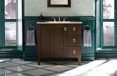 A beautiful teal bath with room that I could stay in all day just add a book shelves and you would never get me out.