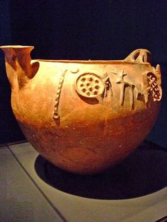 Bowl with scenes of Daily Life Early Cypriot 2000-1900 BCE Terracotta | Flickr - Photo Sharing!