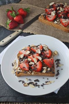 Gluten Free Chocolate Covered Strawberry Toast