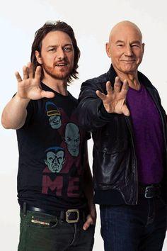 Professor X  -- James McAvoy & Patrick Stewart
