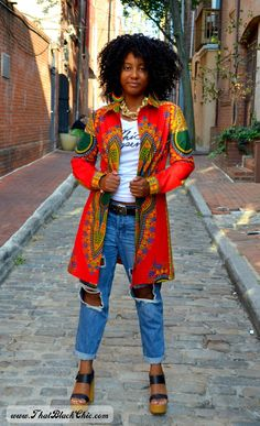 That Black Chic: SEW WHAT?.....A dashiki shirt dress. that's what! [Pattern review]