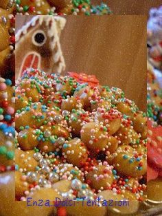 Winter Christmas, Christmas Time, Italian Cake, Cannoli, Churros, Sprinkles, Food And Drink, Cooking Recipes, Candy