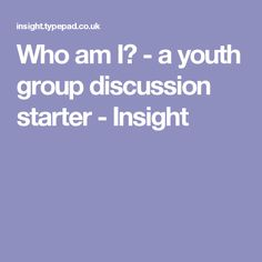 A youth group discussion starter on identity. We each have a unique identity and there is no one else like us with our blend of looks, personality, character and background. Youth Ministry Lessons, Youth Bible Lessons, Youth Group Lessons, Youth Bible Study, Youth Group Activities, Youth Games, Youth Groups, Object Lessons, Ministry Ideas
