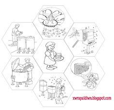 """""""Ταξίδι στη Χώρα...των Παιδιών!"""": Μελισσο...παιχνίδια! Transportation Preschool Activities, Infant Activities, Bug Crafts, Preschool Crafts, Bees For Kids, Bee Coloring Pages, Bugs And Insects, Spring Activities, Bee Happy"""