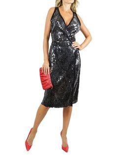 MAGASCIONI Black Sequins Silk Cocktail Dress. L $275 http://www.boutiqueon57.com/products/magascioni-black-sequins-silk-cocktail-dress-l