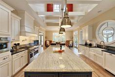 Kitchen Kitchen Cabinets Farmhouse Sink Uba Tuba Granite Countertop Long  Kitchen Island With Industrial Pendant Lighting Ceiling Design Awesome Plan  Kitchen ...