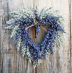 heart wreath. Make with Lavender and give as a gift.