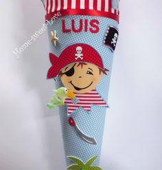 Schultüten - Schultüte ' Piratenfreunde ' Zuckertüte Pirat - ein Designerstück von Home-sweet-love bei DaWanda