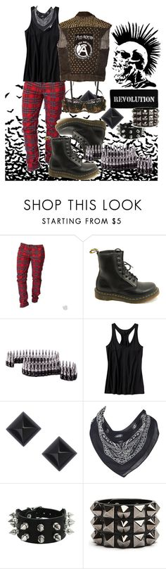 """""""Revolution 3"""" by mademoisellevampire ❤ liked on Polyvore featuring Dr. Martens, Old Navy, Lola Rose, Oasis and Dolce&Gabbana"""