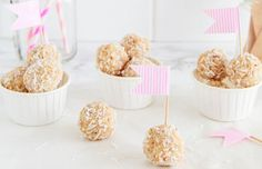 lemon and coconut bliss balls-replace honey with swerve.