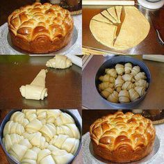 Brioche method for forming. Bread And Pastries, Cooking Chef, Cooking Recipes, Bread Shaping, Dough Recipe, Sweet Recipes, Sweet Tooth, Food And Drink, Strawberries