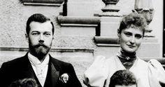 Tsesarevich Nicholas (1868-1918), later Nicholas II and Princess Alix of Hesse (1872-1918), later Alexandra Feodorovna.