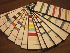 #stampin up - Bänderbeispiele - Musterring für aktuelle Bänder