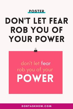 MORE POWER, LESS FEAR POSTER