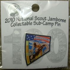 Lot 3 BSA 2010 National Jamboree Sub Camp 8 Sierra Nevada Hat Pin Boy Scout NEW