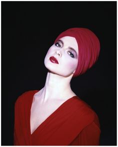 Isabella Rossellini, 1982. Photo by Norman Parkinson. Makeup by Dick Page