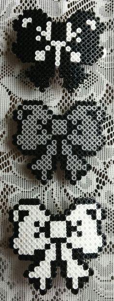 Perler Bead Hair Bows by BlackSheepWorkshop91 on Etsy