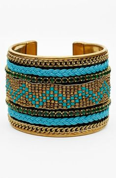 Natasha Couture Beaded Cuff available at #Nordstrom