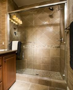 Image detail for -tiled walk-in shower is an enclosure inside the bathroom where you ...