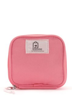 ROMWE - ROMWE Patch Detail Makeup Cube Pouch - AdoreWe.com