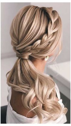 Wedding Ponytail Hairstyles, Ponytail Updo, Down Hairstyles, Easy Hairstyles, Prom Hairstyles, Indian Hairstyles, Ponytail Bridal Hair, Simple Hairstyles For Medium Hair, Ponytail Haircut