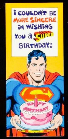 Superman birthday card birthday wishes pinterest superman birthday great vintage birthday card released in neal adams art bookmarktalkfo Image collections