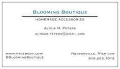 Blooming Boutique! Homemade Accesories including tutus, hair bows, wall decor, and more! Located in Hudsonville, MI but will ship ANYWHERE for only $4! All items guaranteed within 5-7 days(plus shipping)! www.facebook.com/BBloomingBoutique :)